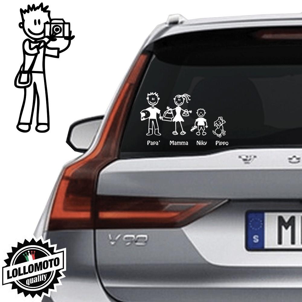 Papà Fotografo Vetro Auto Famiglia StickersFamily Stickers