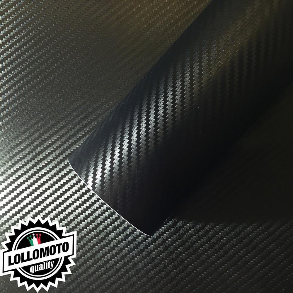 Carbonio 3D Nero Pellicola Adesiva Rivestimento Auto Car