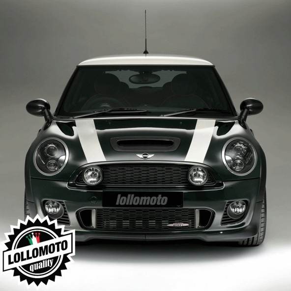 Kit Strisce Cofano Adesive Mini Bonnet Bande Tuning Decal Stickers