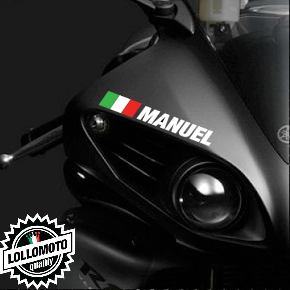Kit 2 pz Adesivi Nome Pilota Moto Casco Personalizzabile Decal