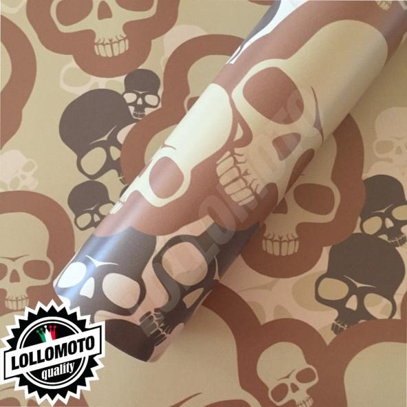 Sticker Bomb Mimetica Desert Teschi Pellicola Adesiva