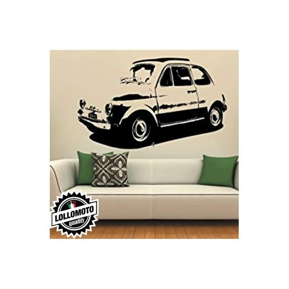 Fiat 500 Wall Stickers Adesivo Murale Arredamento da Muro Interior Design