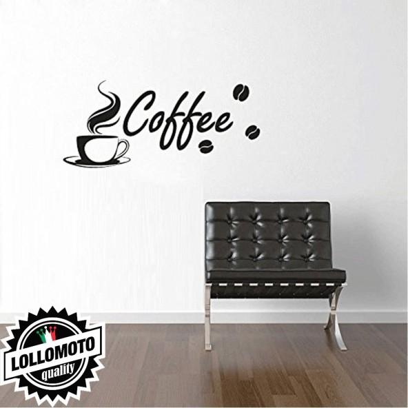 Coffee Caffè Wall Stickers Adesivo Murale Arredamento da Muro Interior Design