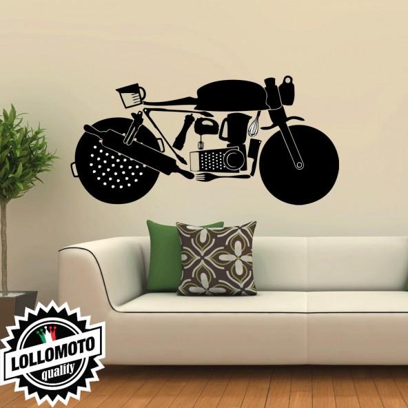 Moto Cafè Racer Wall Stickers Adesivo Murale Arredamento da Muro Interior Design