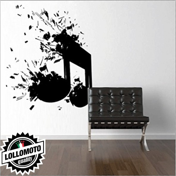 Nota Musicale Dj Music Wall Stickers Adesivo Murale Arredamento