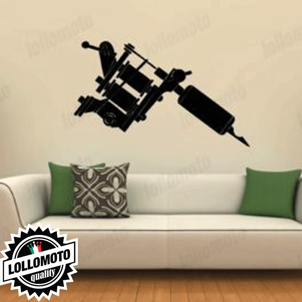 Tatto Machines Wall Stickers Adesivo Murale Arredamento da Muro