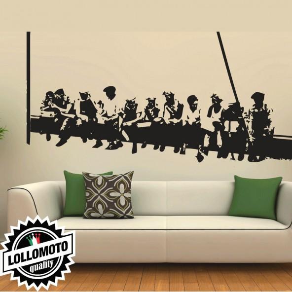 Londra Trave Lavoratori Pranzo Wall Stickers Adesivo Murale Arredamento da Muro Interior Design