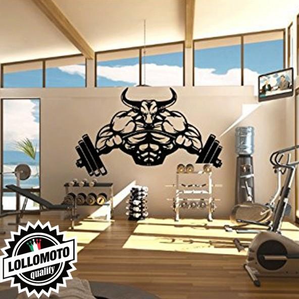Toro Pesi Palestra Wall Stickers Adesivo Murale Arredamento da Muro Interior Design