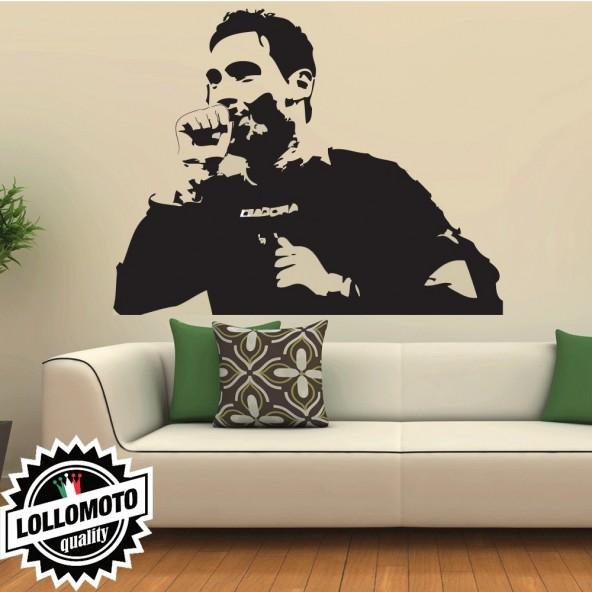 Francesco Totti Roma Wall Stickers Adesivo Murale Arredamento da Muro Interior Design