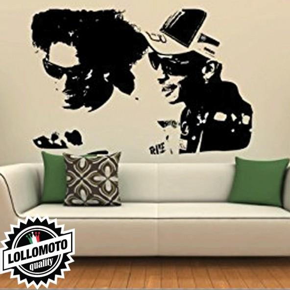 Simoncelli e Valentino Wall Stickers Adesivo Murale Arredamento