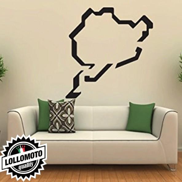 Circuito Nurburgring Wall Stickers Adesivo Murale Arredamento da Muro Interior Design