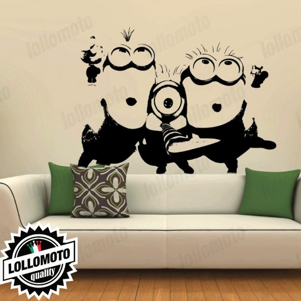 Minion Cattivissimo Me Cartoon Wall Stickers Adesivo Murale Arredamento da Muro Interior Design
