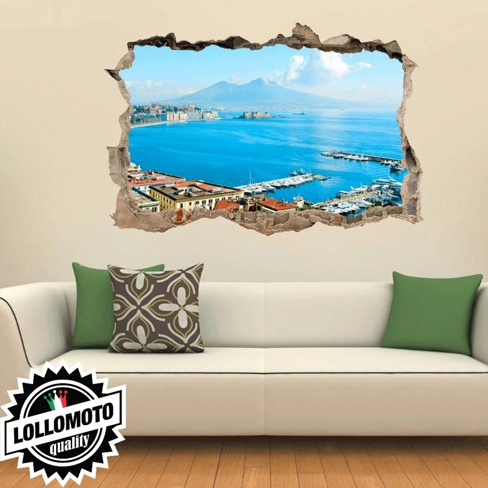 Napoli Vesuvio Wall Stickers Adesivo Murale Arredamento da Muro