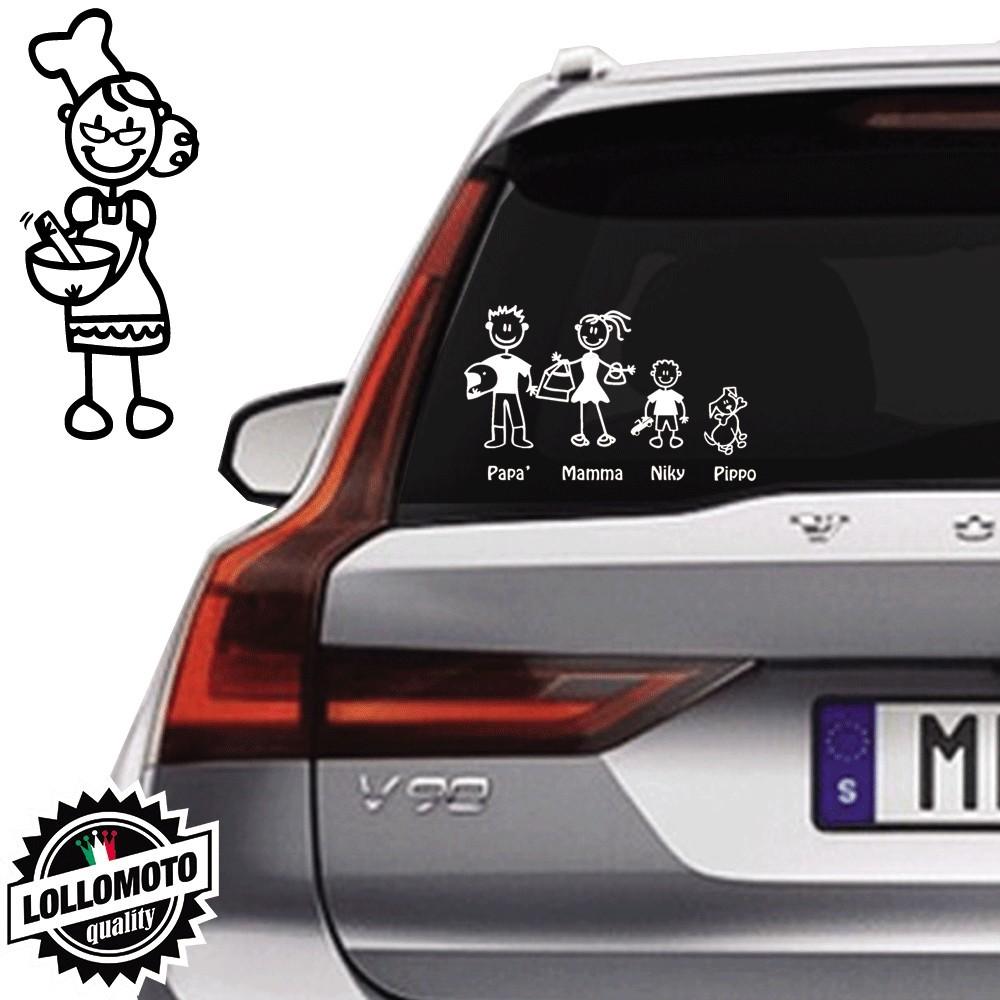 Nonna Cuoca Vetro Auto Famiglia StickersFamily Stickers Family