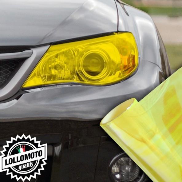 Pellicola Fanali Camaleontica Gialla Neon Car Wrapping Oscuramento Fari Auto Tuning