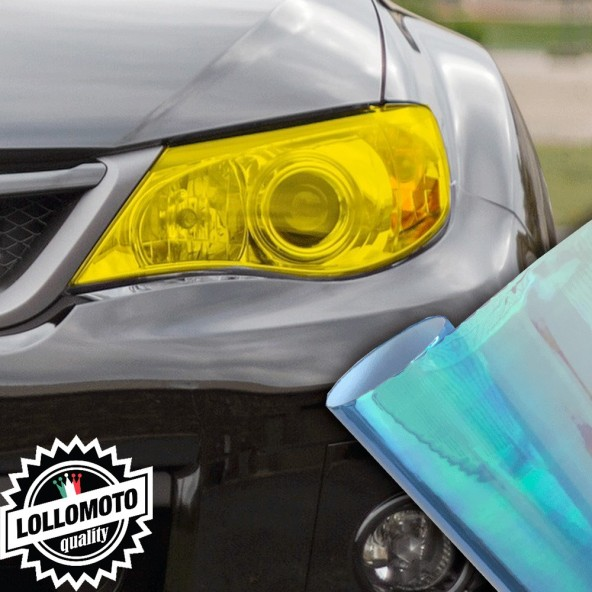 Pellicola Fanali Camaleontica Turchese Car Wrapping Oscuramento