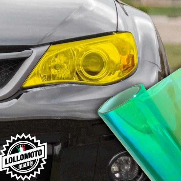 Pellicola Fanali Camaleontica Verde Car Wrapping Oscuramento Fari Auto Tuning