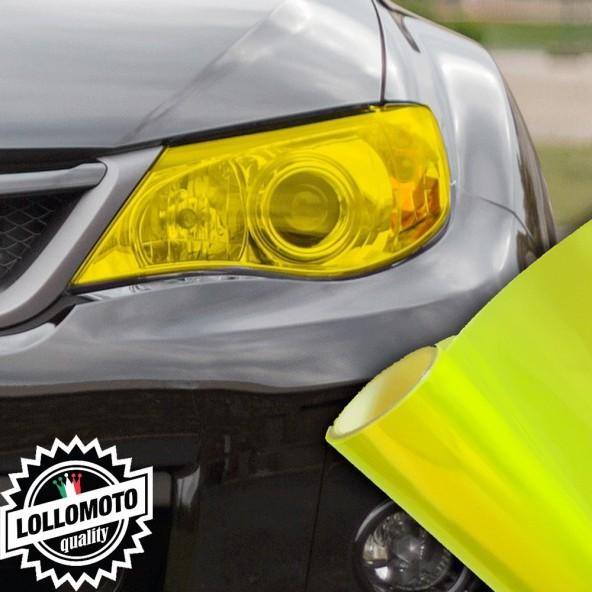 Pellicola Fanali Giallo Neon Car Wrapping Oscuramento Fari Auto