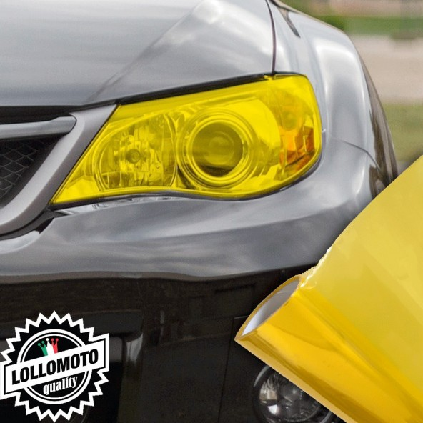Pellicola Fanali Giallo Car Wrapping Oscuramento Fari Auto Tuning