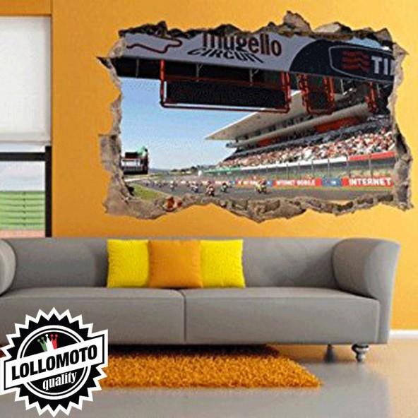 Circuito Mugello Wall Stickers Adesivo Murale Arredamento da