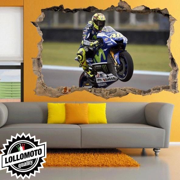 Valentino Rossi Yamaha VR46 Wall Stickers Adesivo Murale Arredamento da Muro Interior Design