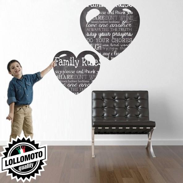 Cuore Lavagna Wall Stickers Adesivo Murale Arredamento da Muro Interior Design