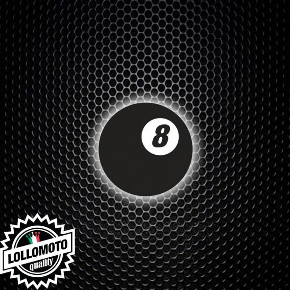 Adesivo Palla 8 Biliardo Numero Stickers Auto Moto Cafè Race Custom Fortuna Vintage Scooter Casa Decal Intagliato Tuning