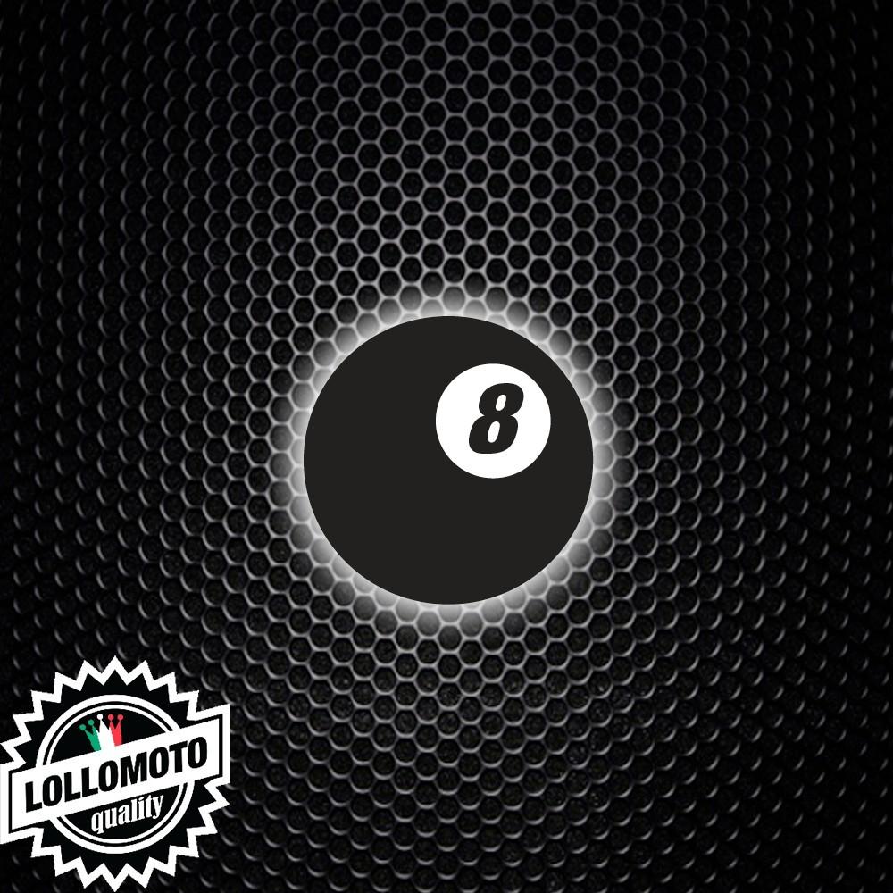 Adesivo Palla 8 Biliardo Numero Stickers Auto Moto Cafè Race