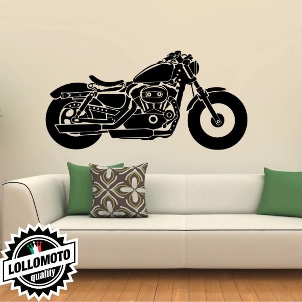 Moto Custom Classic Bobber Shadow Wall Stickers Adesivo Murale