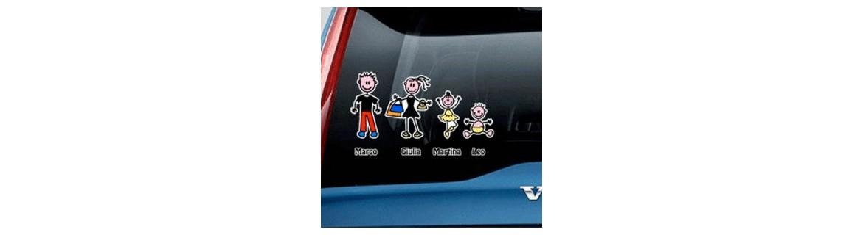 Acquista Adesivi Famiglia Stickers Family Colorati