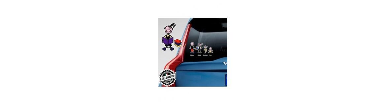 Acquista Adesivi Famiglia Stickers Family Bimba