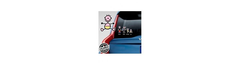 Acquista Adesivi Famiglia Stickers Family Neonati
