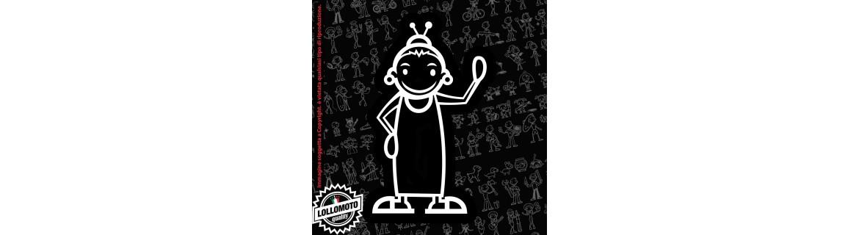 Acquista StickMan 2.0 Adesivi Famiglia Stickers Family Nonni