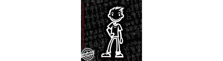 Acquista StickMan 2.0 Adesivi Famiglia Stickers Family Ragazzo