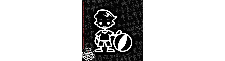 Acquista StickMan 2.0 Adesivi Famiglia Stickers Family Auto Bambino