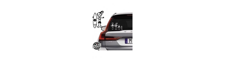 Acquista Adesivi Famiglia Stickers Family Ragazza