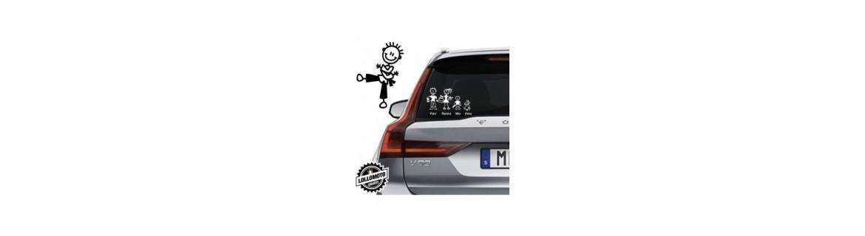 Acquista Adesivi Famiglia Stickers Family Bimbo